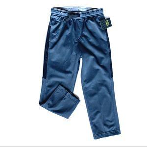 NWT Boys 6/7 Tri-Color Athletic Pants Dark Gray